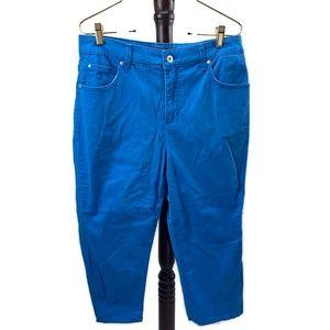 Blue Gloria Vanderbilt Super Amanda Capri Pants